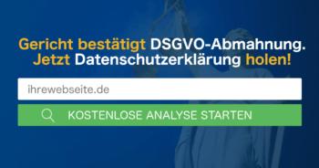 DSGVO Abmahnung Landgericht Würzburg